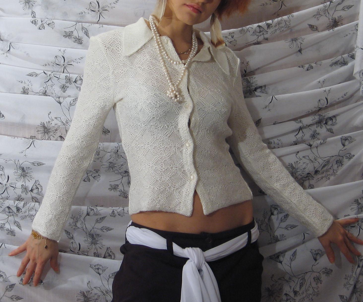 Вязание крючком женской рубашки 15